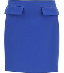 sportmax cotton gabardine mini skirt