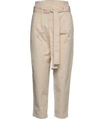 cotton paper bag wai pantalon met rechte pijpen beige calvin klein