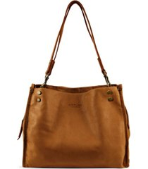 american leather co. lennox triple entry leather satchel
