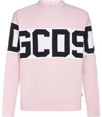 gcds logo-band cotton sweater