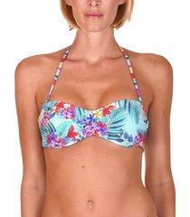 bikini lisca beugel omkeerbare bandeau top florida lichtblauw