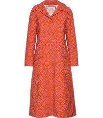 luminously coat dunne lange jas oranje odd molly