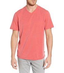 men's tommy bahama tropicool paradise v-neck t-shirt, size small - red