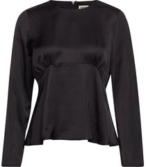 elmira blouse t-shirts & tops long-sleeved zwart twist & tango