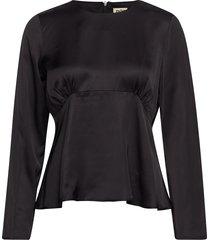 elmira blouse t-shirts & tops long-sleeved zwart twist & tango