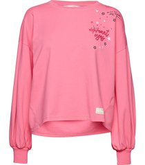flaring spirit top sweat-shirt trui roze odd molly