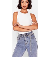 womens o-ring me later chunky chain belt - silver