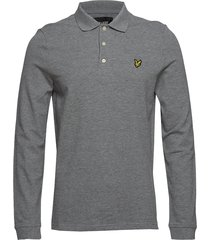 ls polo shirt polos long-sleeved grijs lyle & scott