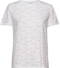 printed single org trenda p t-shirts & tops short-sleeved vit mads nørgaard