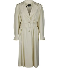agnona white wool eternals trench coat
