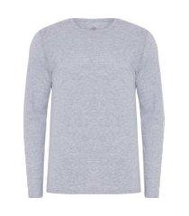 t-shirt masculina pima berlim gola careca regular fit - cinza