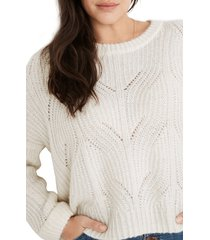 women's madewell charley pullover sweater, size x-large - ivory