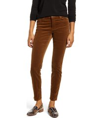 kut from the kloth diana stretch corduroy skinny pants, size 18p in cognac 2 at nordstrom