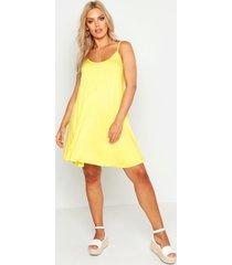 plus basic swing jurk, yellow
