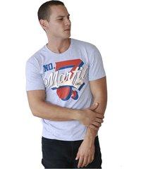 camiseta de hombre marfil slim fit algodon seven gris