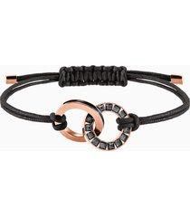 braccialetto alto, grigio, placcato oro rosa