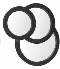 lustro okrągłe 3 szt. black