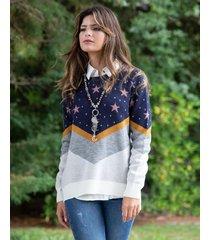 sweater azul sophya galaxy