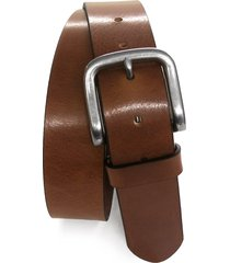 men's boconi leather belt, size 36 - cognac