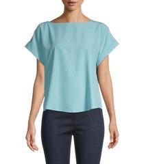 eileen fisher women's dolman-sleeve top - blue - size l