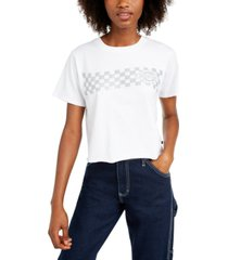 dickies cotton checkered-print t-shirt