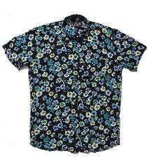 camisa negra lava floral