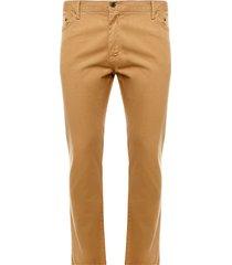 pantalón hombre de dril 5 bolsillos mostaza color café, talla 28
