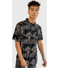 camisa oakley multicolor - calce regular