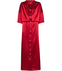 y/project infinity button-up maxi dress - red
