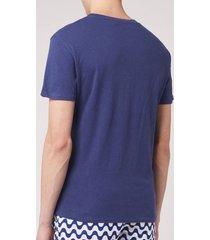 frescobol carioca men's crew neck t-shirt - navy blue - xl