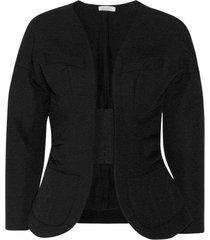 runway open front blazer jacket