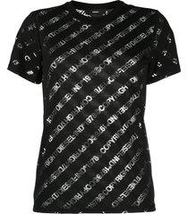 diesel sheer-logo t-shirt - black