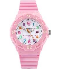 reloj casio dama lrw 200h 4b2 pulso en goma  resiente al agua original