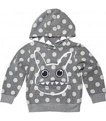 bluza grey dotty hoodie
