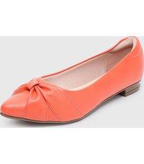 zapato plano naranjo moleca
