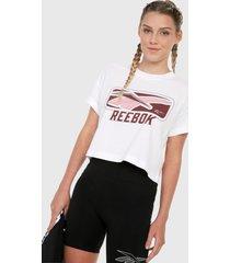 camiseta blanco-vinotinto reebok classics vintage classics soft edge