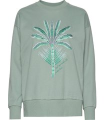 nora sweatshirt sweat-shirt trui groen by malina