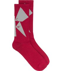 a-cold-wall* shard intarsia-knit socks - pink