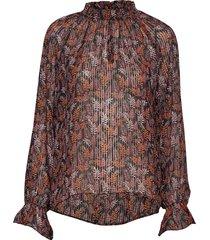 kalistaiw blouse blouse lange mouwen bruin inwear