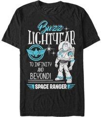 disney pixar men's toy story buzz lightyear, to infinity and beyond short sleeve t-shirt