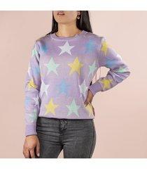 buzo con estrellas color lila para dama cosmos 100294