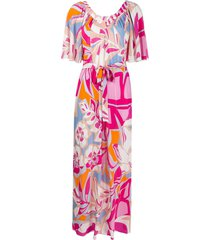 emilio pucci printed long beach dress - pink