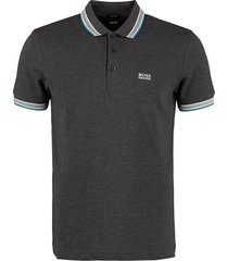 hugo boss paddy piqué polo shirt with decorative inserts