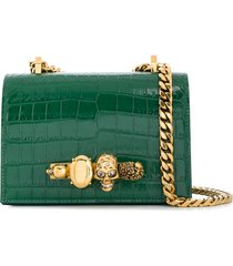 alexander mcqueen knuckle duster shoulder bag - green