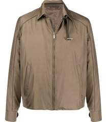 brioni buckle neck jacket - neutrals