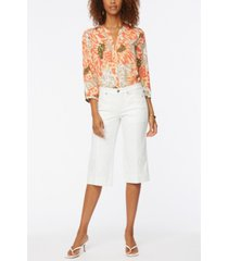 nydj petite wide leg pedal pusher jeans with utility details