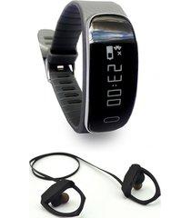 smart bracelet sm35 con audífono rm5 negro lhotse