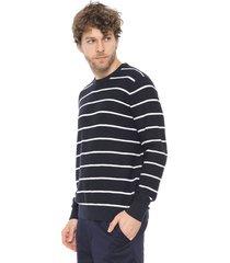 suéter banana republic tricot crew neck azul-marinho/branco
