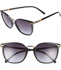 women's burberry 53mm gradient square sunglasses - black