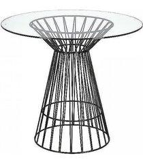 stół metalowy ze szklanym blatem vidrio